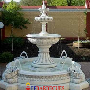 Fontaine Rond En Pierre Grand Vasque Ffbarbecues