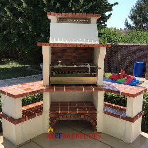 Barbecue en pierre reconstituee ffbarbecues for Barbecue d angle en brique