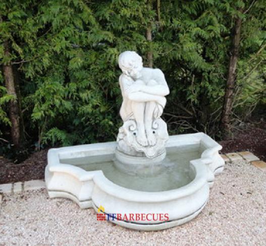 Fontaine en pierre reconstitu e manuela ffbarbecues - Fontaine de jardin pierre reconstituee ...