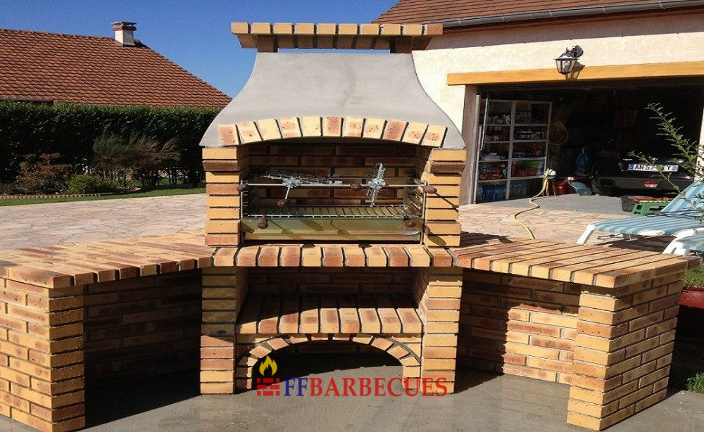 Barbecue d angle en briques l opard l j 38 ffbarbecues for Combarbecue en pierre suisse