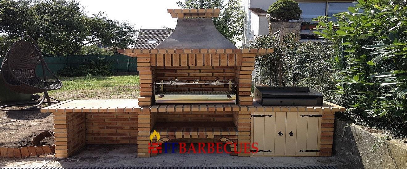 barbecue en brique l opard l j 36 ffbarbecues. Black Bedroom Furniture Sets. Home Design Ideas