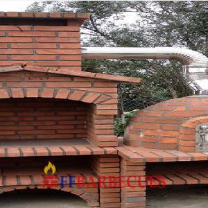 Fours a bois en briques refractaire ffbarbecues - Barbecue en brique refractaire neuf ...