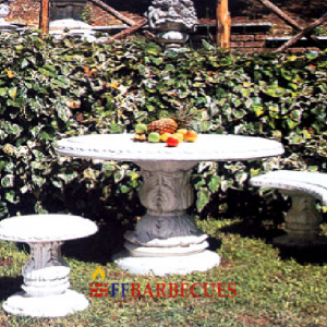 banc en pierre reconstituee ff 55 ffbarbecues. Black Bedroom Furniture Sets. Home Design Ideas