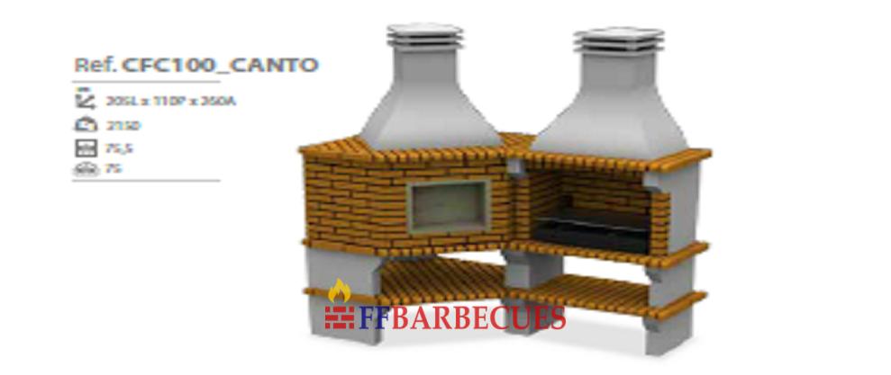 Barbecue d angle en brique et beton cfc 100 ffbarbecues for Barbecue d angle en brique
