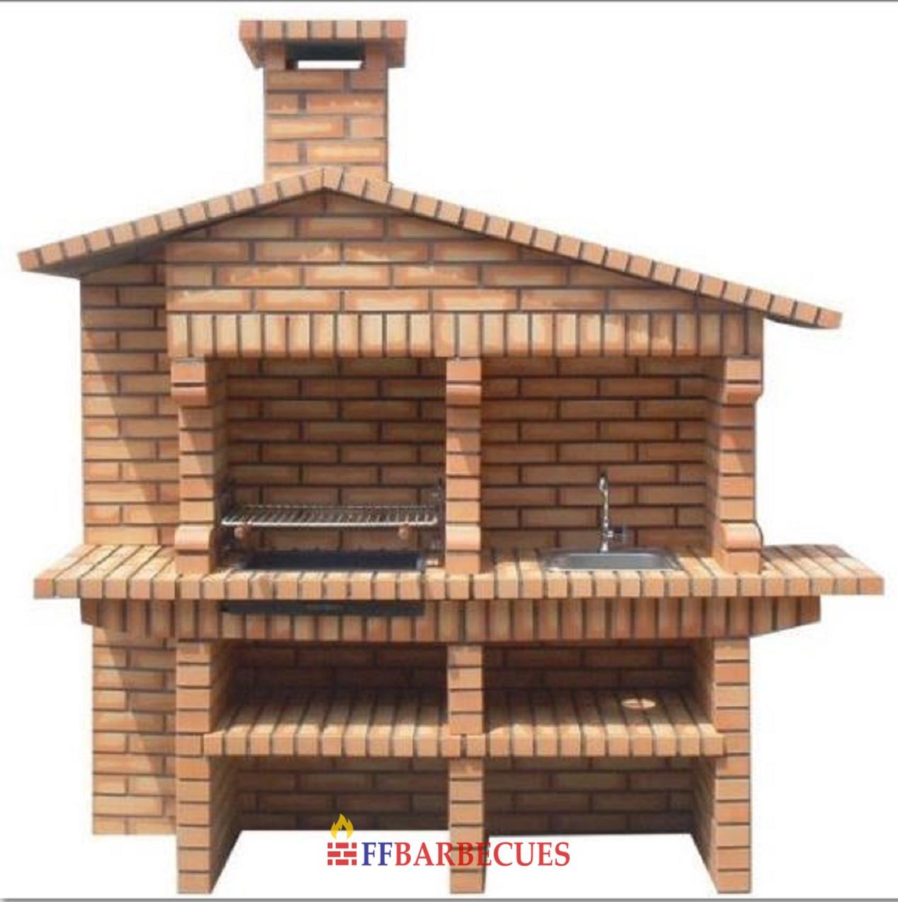 barbecues en briques rustique evier et robinet ff840f